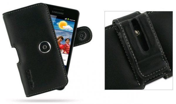 Funda PDair cuero Samsung Galaxy S2 i9100, S4 Mini i9195
