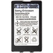 Batería Sony.Ericsson BST-25, T606, T608, T610, T616, T618, T628, T630 y compatibles.