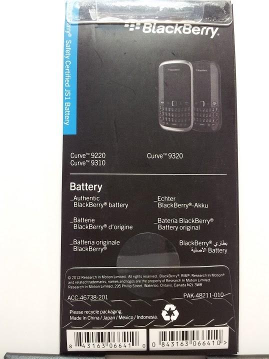 Batería Blackberry JS1 para Curve 9220 9310 y 9320 original