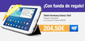 Tablet Samsung Galaxy Tab3 con funda de regalo