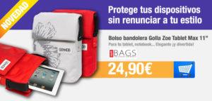 Banner promocional de bolso Golla por 24,90 euros