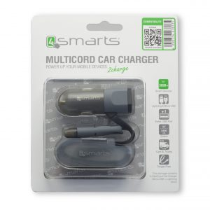 4smarts Multicargador de coche micro-USB + Lightning